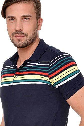 M.Conte Herren Poloshirt Polohemd T-Shirt Polo Weiss Blau S M L XL Rot Kurzarm Angell Blau
