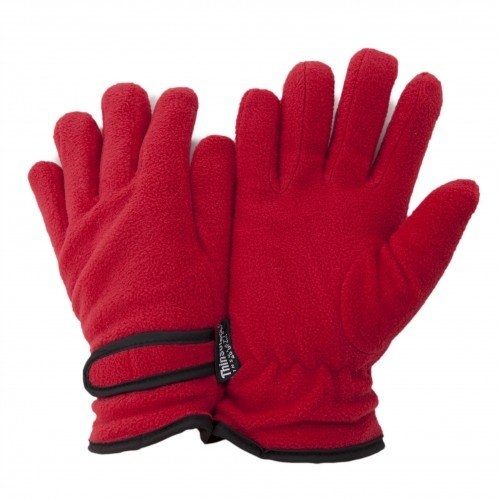 FLOSO- Guantes térmicos con forro polar Thinsulate para mujer (3M 40g) (Talla única ajustable/Rojo)