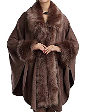 Señoras Big Hair Cloak Shawl Solapa Suelta Knit Cloak Moda Rebeca