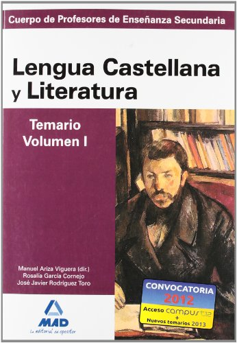 Cuerpo de profesores de enseñanza secundaria. Lengua castellana y literatura. Temario. Volumen i (Profesores Eso - Fp 2012) - 9788467628357