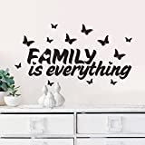 Zooarts Wall Sticker Family Is Everything Quote Mural Removable Butterfly Warm Word Wall Decals