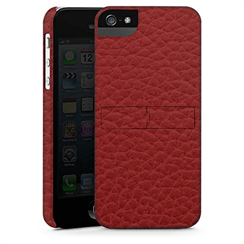 Apple iPhone X Silikon Hülle Case Schutzhülle Leder Look Rot Marsala Leather Premium Case StandUp