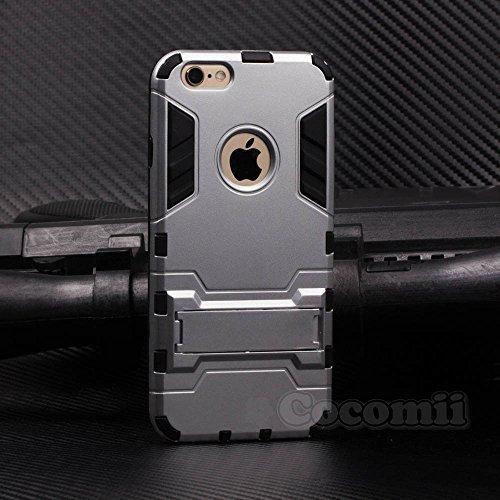 Cocomii Iron Man Armor iPhone 6S Plus/6 Plus Hülle [Strapazierfähig] Taktisch Griff Ständer Stoßfest Gehäuse [Militärisch Verteidiger] Case Schutzhülle for Apple iPhone 6S Plus/6 Plus (I.Silver) (I Phone Protector Shield Plus 6)