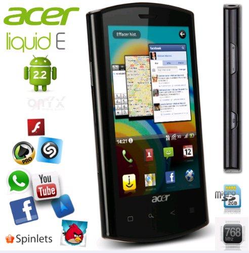 Foto Acer Liquid E custodia (8,9cm (3,5pollici), Display Touch Screen, 5,0Megapixel fotocamera con autofocus), Nero