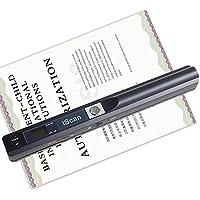 KOBWA Scanner Portatile Wireless 900DPI per Documenti A4, Foto, Scontrini, Ricevute, Libri ECC A Colori Salvataggio in Formato JPEG/PDF su MicroSD