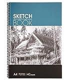 Joylora Sketchbook — Skizzenbuch mit Spiralbindung — Weißes Din A4 Zeichenpapier — 40 Blätter Pro Zeichenblock 2er-Set