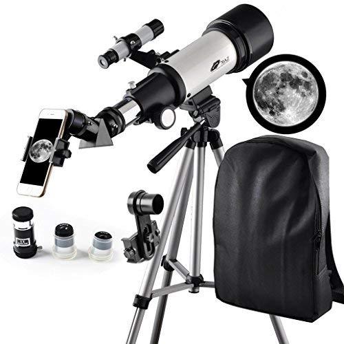 Télescope 400 mm, Ouverture 70 mm, Monture AZ : Bon télescope de Voyage avec Sac à Dos, idéal...