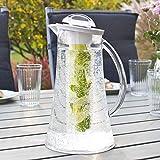 bremermann Kühlkaraffe, Wasserkaraffe 2,4 Liter mit Kühl- und Aromastab (weiß) - 3