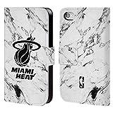 Offizielle NBA Marmor Weiss 2018/19 Miami Heat Brieftasche Handyhülle aus Leder für iPhone 4 / iPhone 4S
