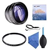 K&F Concept 52mm Digital High Definition Blue Film Coated 2.2X Telephoto Lens + Slim MCUV + Microfiber Cleaning Cloth + Cleaning Pen for Canon Rebel T5i T3i XTi XS T4i T2i XT SL1 T3 T1i XSi EOS 1000D 600D 450D 100D 650D 700D 550D 400D 500D 300D 1100D and Nikon D7100 D5100 D3100 D300 D90 D70s D40x D3X D7000 D5000 D3000 D300S D80 D60 D3 D5200 D3200 D700 D200 D70 D40 D3S