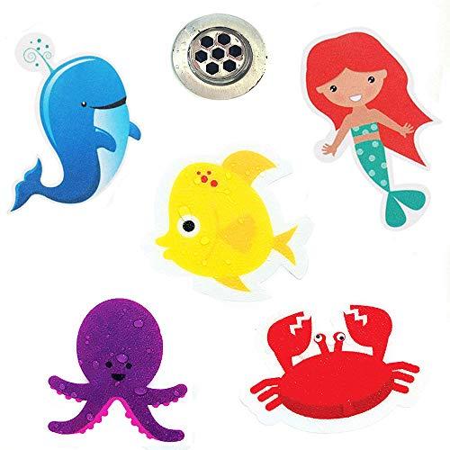 MAIYADUO 10x Anti-Rutsch Sticker für Badewanne, Dusche und Bad, selbstklebend. Antirutsch Aufkleber statt Badewanneneinlage oder Antirutschmatte