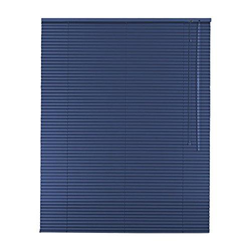 Original Easy-Shadow Aluminium Jalousie Jalousette Breite 130 x 160 cm Höhe in Farbe blau - Bedienseite rechts - Fensterjalousie Jalousien Alu-Jalousien Alu-Jalousetten Fenster Rollo Lamellenbreite 25 mm Lamellen / Maßanfertigung