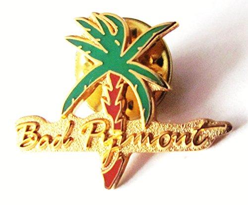 Bad Pyrmont - Schriftzug & Palme - Pin 25 x 15 mm (15mm Palmen)