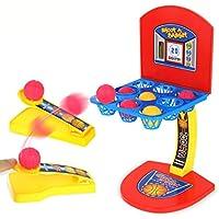 HKFV Desktop Ejection Basketball Mini Fußball Hockey Golf Schießen Fingerspiel Schießspielzeuge für Kinder Basketballschießen