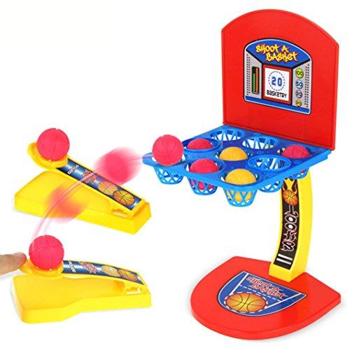 HKFV Desktop Ejection Basketball Mini Fußball Hockey Golf Schießen Fingerspiel Schießspielzeuge für Kinder Basketballschießen -
