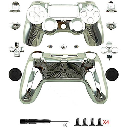 Canamite® Case Hülle Gehäuse Chrome Modding Cover Shell für PS4 Playstation 4 DualShock 4 Controller ()