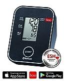 boso medicus system – Kabelloses Blutdruckmessgerät für die Messung am Oberarm mit Arrhythmie-Erkennung – Inkl. Universal-Zugbügelklettenmanschette (22-42cm)