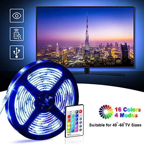 Tira LED TV 2.2M, OMERIL 5050 Tiras LED USB Impermeable
