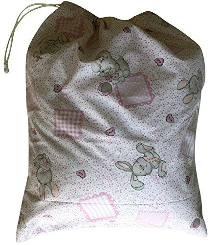 Preisvergleich Produktbild Tasche ASYL Kaninchen und Karotten Pink 46x 60cm-Kleidung und Schaltung Kind