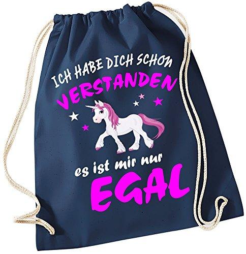 Ich habe Dich schon verstanden - es ist mir nur Egal ! Einhorn Unicorn ! Gymbag (Kostüm Zensur)
