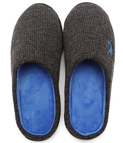 welltree , Mules homme Dark Gray/Blue