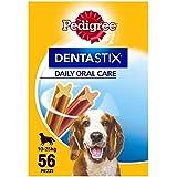 Pedigree Hundesnacks Hundeleckerli Dentastix Medium Tägliche Zahnpflege für mittelgroße Hunde 10-25kg, 56 Sticks (1440g)