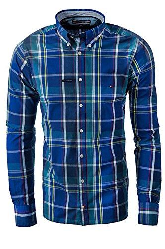 Tommy Hilfiger Herren Freizeit-Hemd Blau
