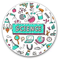 Awesome Vinyl Stickers (Set of 2) 7.5cm - Science Chemistry Physics Teacher Fun Decals for Laptops,Tablets,Luggage,Scrap Booking,Fridges,Cool Gift #2780