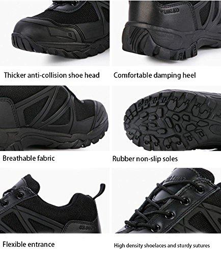 Suetar Randonnée Chaussures Été Et Été Tactiques Trekking Chaussures Respirant Résistant Anti-slip Noir