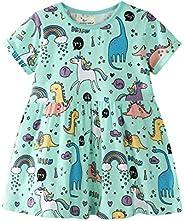 Summer Dress European and American Style Children's Wear Knitted Short-Sleeve Girl D