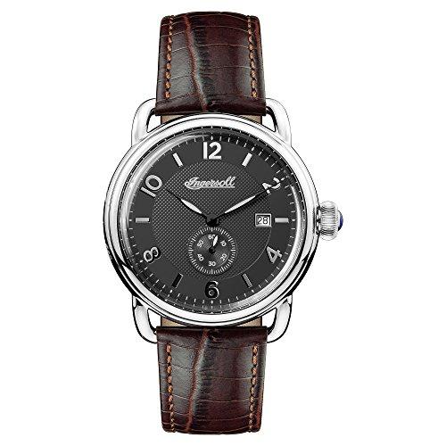 Ingersoll Herren Analog Quarz Uhr mit Leder Armband I00801