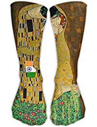 Funny&shirt Unisex Classics Socks Gustav Klimt The Kiss Athletic Stockings Long Sock 19.68 Inches