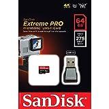 San Disk Extreme PRO 64 GB microSDXC Speicherkarte + USB 3.0-Lesegerät bis zu 275MB/Sek, UHS-II Class 10, U3