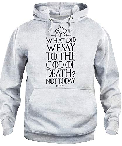 Felpa Cappuccio Unisex What We Say To Death: Not Today Arya Stark Quote...