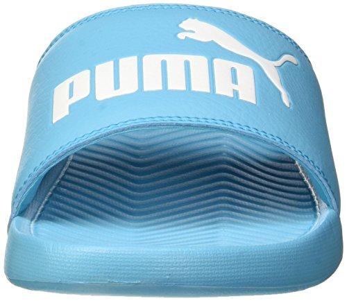 Puma Popcat, Scarpe da Spiaggia e Piscina Unisex-Adulto Blu (Blue Atoll-puma White 17)