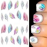 Fashion Galerie Nailsticker Nail Art Feder-Wassersticker Tipps-Aufkleber