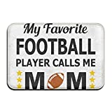Home Door Mat My Favorite Football Player Calls Me Mom Doormat Door Mats Entrance Rugs Anti Slip 23.6 X 15.7.6 InchFor Indoor Outdoor