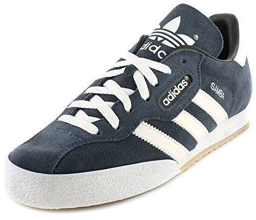 Adidas Samba Super Suede Leather Indoor Soccer Shoes Trainers - Navy Suede/White - UK SIZE 9