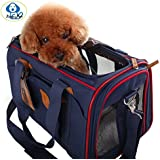 Soft Sided Pet Carrier JimmyPet® [Airline-Approved recommended by American Pet Association]- Pet Travel Portable Bag Home for Dogs, Cats and