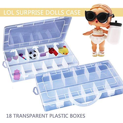 Ogquaton Spielzeug Aufbewahrungsbox - Tragbare Kunststoff-Organizer-Tragetasche - Hält für LOL-Überraschungspuppen, Babys und Haustiere, Kunsthandwerk, langlebig und praktisch