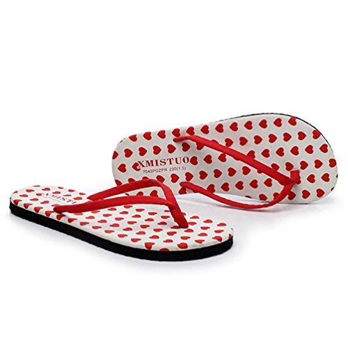 SHANGXIAN plage pantoufles plates des femmes Thong Sandal b