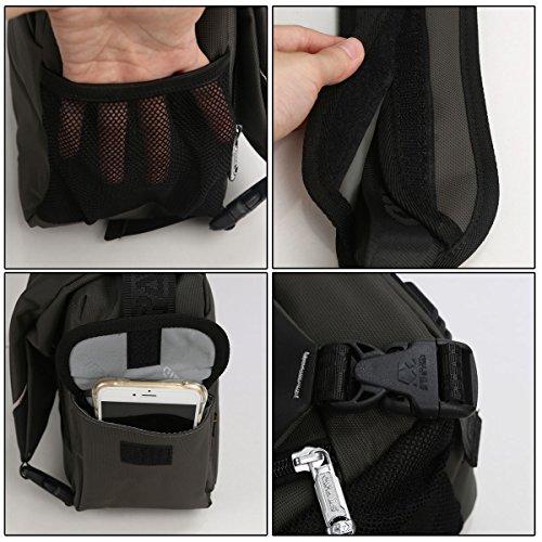 JNTworld Mode Reise Wandern Compact System Camera Case Tasche Grau