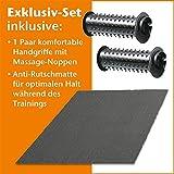 maxvitalis Elektro Mini Bike Arm- und Beintrainer Pedaltrainer Bewegungstrainer mit Trainingsdisplay Massage-Handgriffe Schwarz/Silber - 3