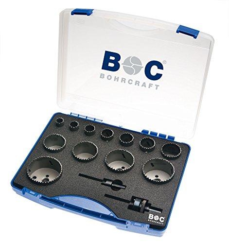 Craft HSS bilame Scie perçage dans coffret en plastique, 14 pièces 19–76 mm avec AS 11 et 33 rls14 Allround, 1 pièce, 19001330014