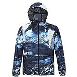 STEAM PANDA Giacca A Vento Cappotto Impermeabile Antivento per Outdoor Sport Escursionismo Arrampicata Sci,XL