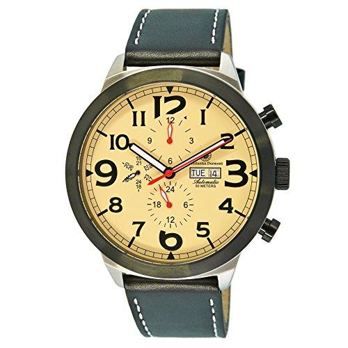 Constantin Durmont hombre-reloj estampida analógico automático piel CD-STPAODASH@DASHAOLTSTBKSD