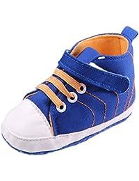 Y-BOA Chaussures Bébé Garçon Basket Toile Douce Sneakers 0-12mois Chausson Scratch Toddler