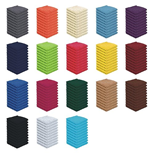 Seiflappen Set - 10x Seiflappen - 30x30 cm - 100% Baumwolle - Farbe Rot