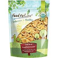 Food to Live Chips de plátano Bio certificados (Eco, Ecológico, sin OMG Kosher) 453 gramos