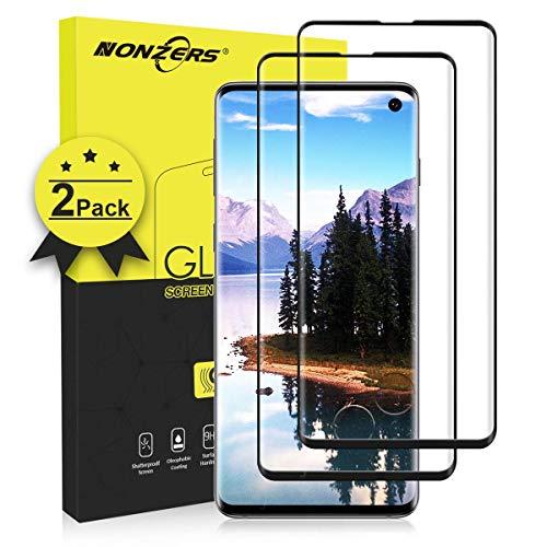 2-UnidadesCristal Templado para Samsung Galaxy S10,[3D Cobertura Completa]Protector de Pantalla para Galaxy S10,Alta Definicion,Resistente a Arañazos y Golpes,Trabajar con ID de Huella Digital